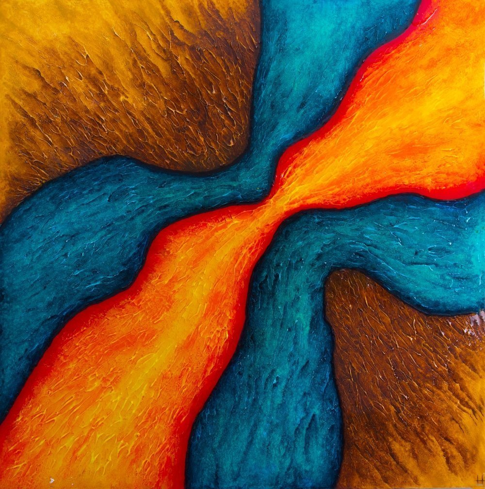 ABS035 Abstract acrylic from Paul Humphrey Art